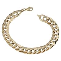 Fremada 14k Yellow Gold Bold Flat Link Bracelet (7.5 inches)