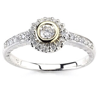 Diamonds for a Cure 14k Two-tone Gold 1/2ct TDW Diamond Cocktail Ring
