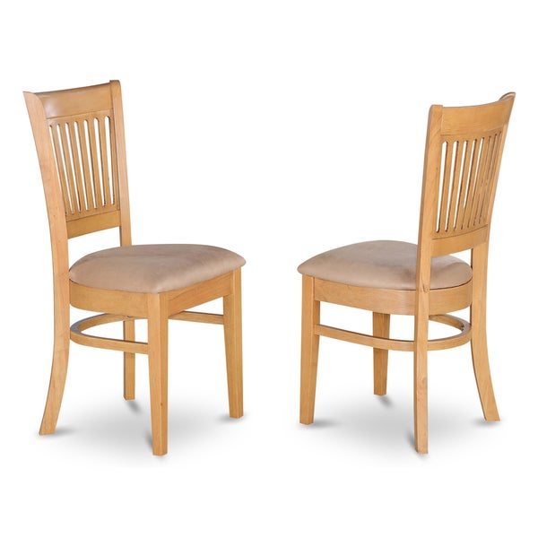 vancouver oak dining chairs set of 2 free shipping