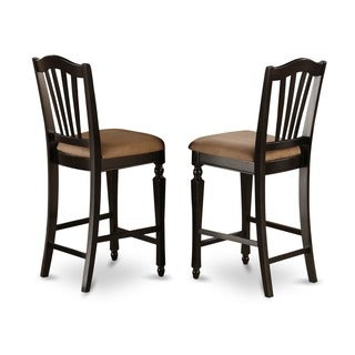 Chelsea Black/ Cherry 24-inch Stool (Set of 2)