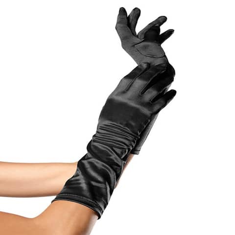 Women's Elbow Length Satin Gloves