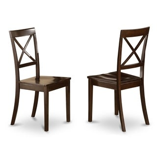 Boston Cappuccino X-back Dining Chair (Set of 2)