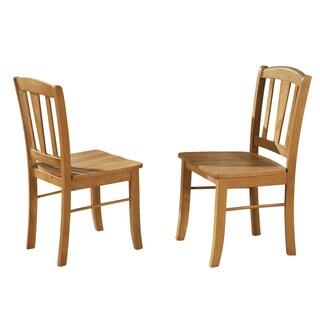Dublin Wooden Seat Dining Chair (Set of 2)