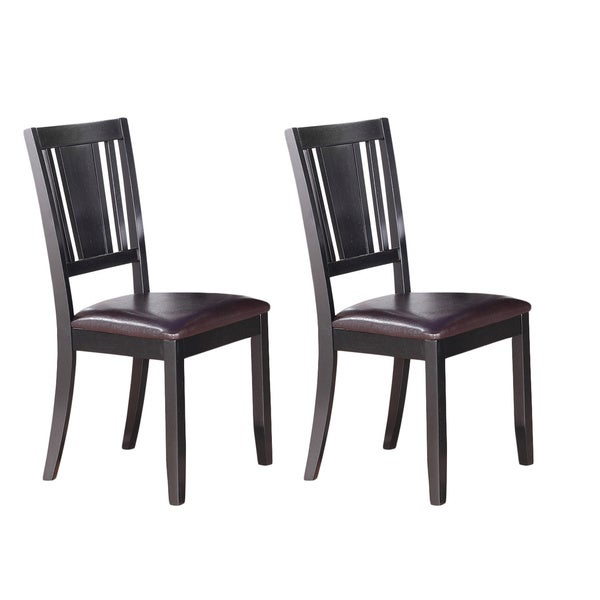 Dudley Black Dining Chair Set Of 2 Free Shipping Today