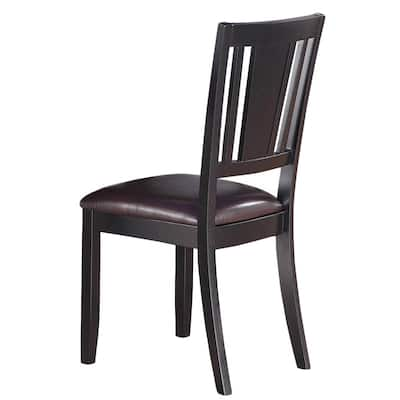 East West Furniture Dudley Black Dining Chair (Set of 2)