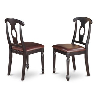 Kenley Nappoleon-styled Black/ Cherry Dining Chair (Set of 2)