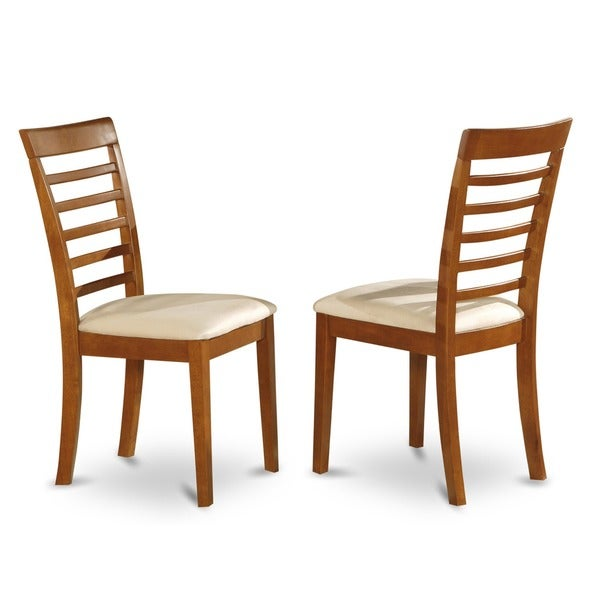 Saddle Brown Round Table And 4 Kitchen Chairs 5 Piece: Shop Milan Saddle Brown Dining Chair (Set Of 2)