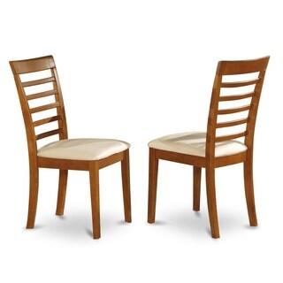 Milan Saddle Brown Dining Chair (Set of 2)