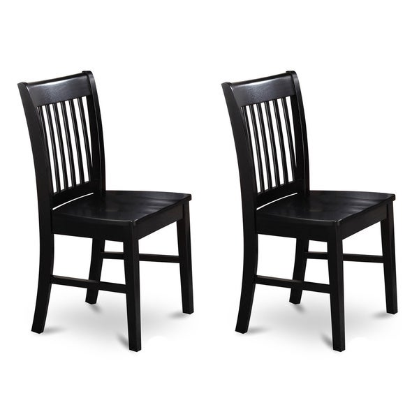 Norfolk Black Wooden Seat Dining Chair (Set of 2)