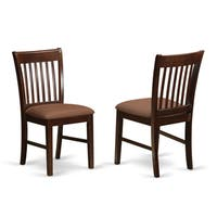 "Norfolk Mahogany Dining Chairs (Set of 2) - 18""l x 17""w x 36""h"