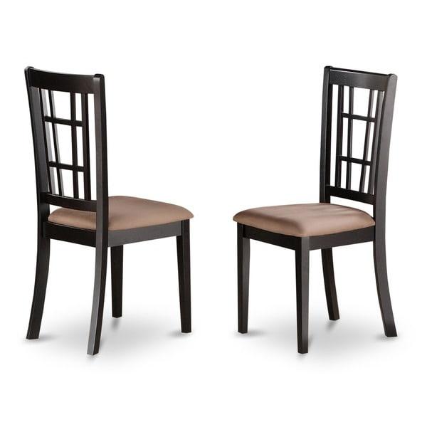 Black Kitchen Chairs: Shop Nicoli Black/ Cherry Kitchen Chair (Set Of 2)