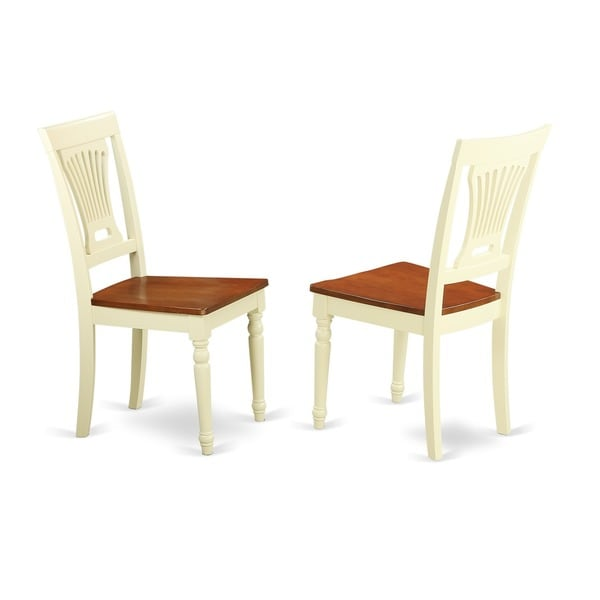 Plainville Buttermilk/ Cherry Dining Chair (Set of 2)