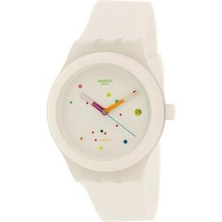 Swatch Women's Originals SUTW400 White Rubber Swiss Automatic Watch