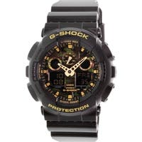 Casio Men's GA100CF-1A9 'G-Shock' Analog-Digital Camouflage Black Resin Watch