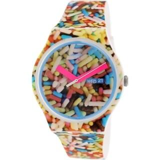 Swatch Women's Originals SUOW705 Multicolor Rubber Swiss Quartz Watch