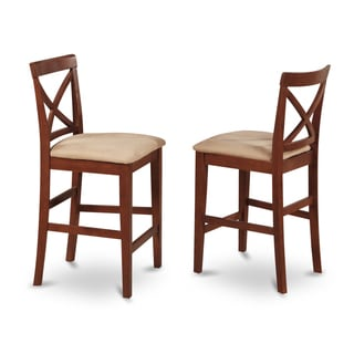 Dark Brown X-back Stool (Set of 2)