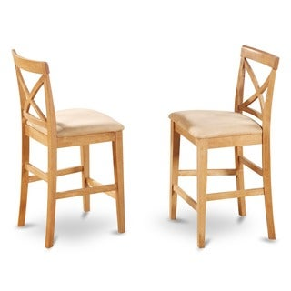 Oak X-back Stool (Set of 2)