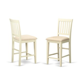 Vernon White Wood Counter-height Stools (Set of 2)
