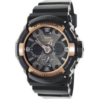 Casio Men's G-Shock GA200RG-1A Black Resin Quartz Watch