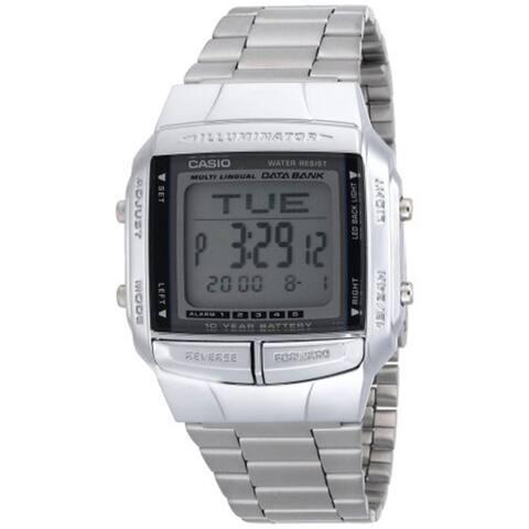 Casio Men's Illuminator Digital Databank S. Steel Watch