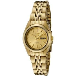Seiko Women's 5 Automatic SYMA38K Goldtone Gold Tone Stainles-Steel Automatic Watch