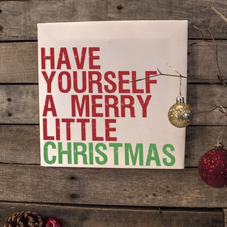 Little Christmas Canvas Wall Art