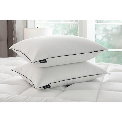 Elle 1200 Thread Count Cotton Rich Down Pillow - White