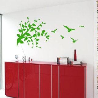 Birds and Tree Vinyl Sticker Wall Art