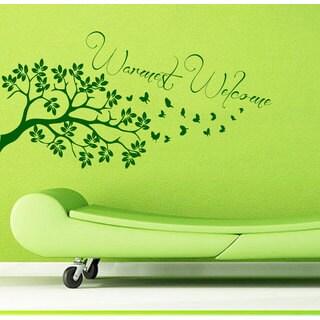 Warmest Welcome Tree Vinyl Sticker Wall Art
