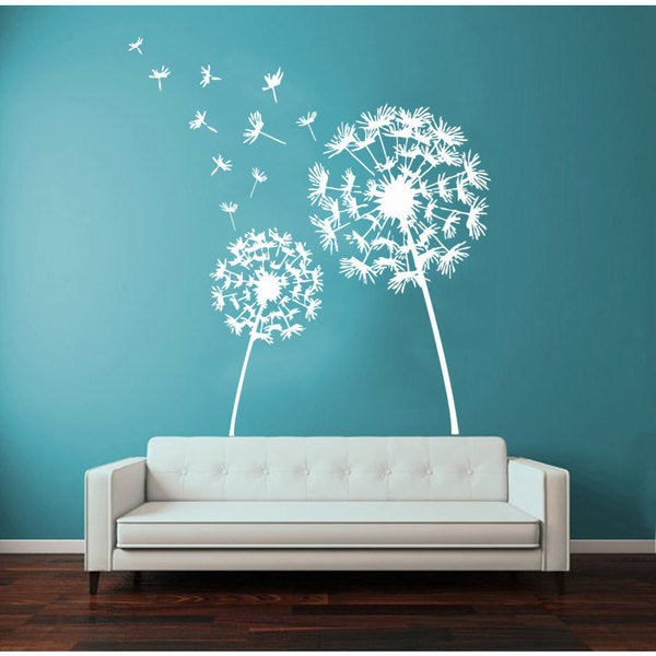 shop dandelion vinyl wall art - free shipping on orders over $45