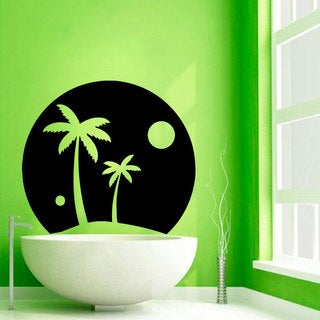 Palm Tree Vinyl Sticker Wall Art