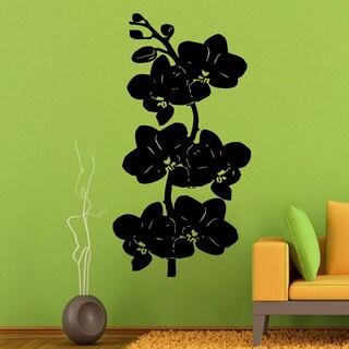 Black Orchid Flower Vinyl Wall Art