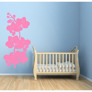 Pink Orchid Vinyl Sticker Wall Art