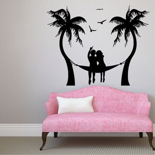 Palm Tree Romance Vinyl Sticker Wall Art
