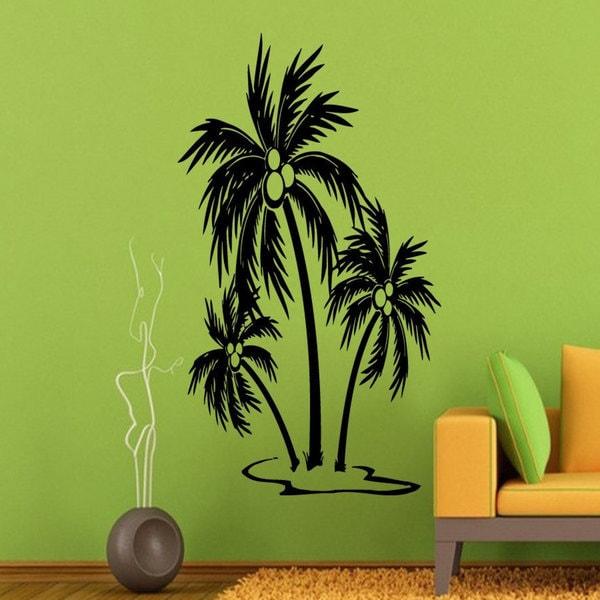 Palm Tree Beach Vinyl Sticker Wall Art