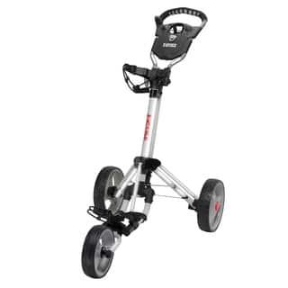 Easy Fold Silver Golf Push Cart