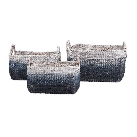 Cascade Woven Water Hyacinth Basket (Set of 3)