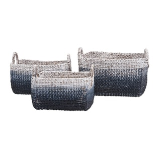 Cascade Woven Water Hyacinth Basket (Set of 3)