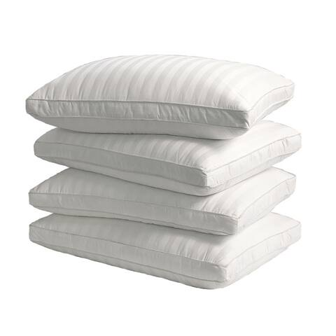 Supreme 350 Thread Count Cotton Damask Down Alternative Pillow (Set of 4) - White