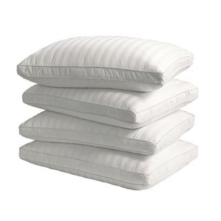 Supreme 350 Thread Count Cotton Damask Down Alternative Pillow (Set of 4)
