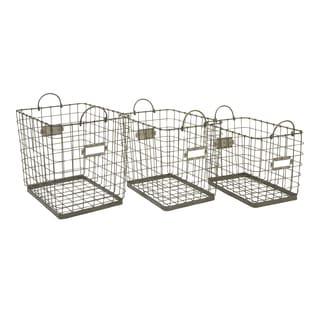 Newbridge Wire Storage Baskets (Set of 3)