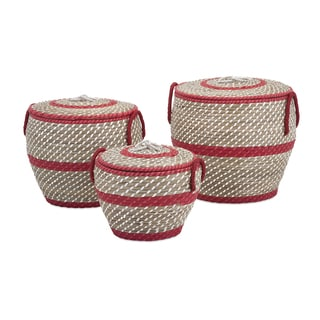 Lauren Lidded Baskets (Set of 3)
