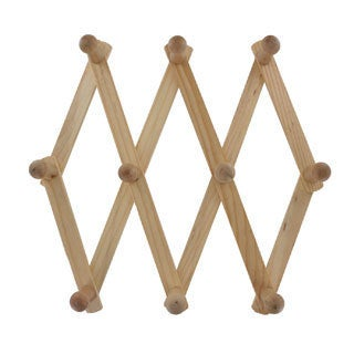 Junipers Expandable Heavy-Duty Wooden Wall Racks (Pack of 2)
