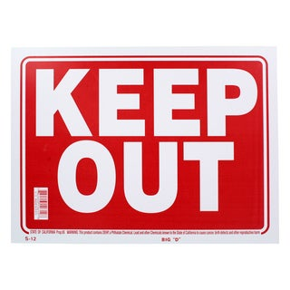 Bazic Small Keep Out Sign (9 x 12 inches)