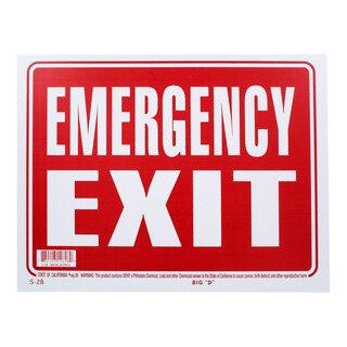 Bazic Small Emergency Exit Sign (9 x 12)
