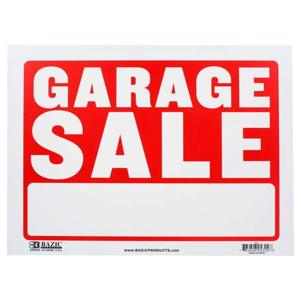Bazic small garage sale sign 9 x 12 inches free for Garage ad nancy