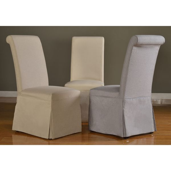 domusindo slipcovered roll back dining chair set of 2 free