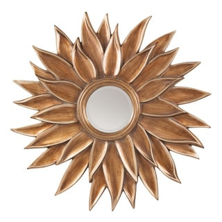 Decorative Gold Petal Frame Beveled Wall Mirror