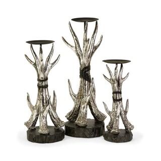 Antler Candleholders (Set of 3)