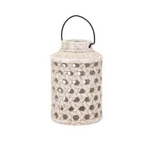 Verandah Small Cutwork Ceramic Lantern